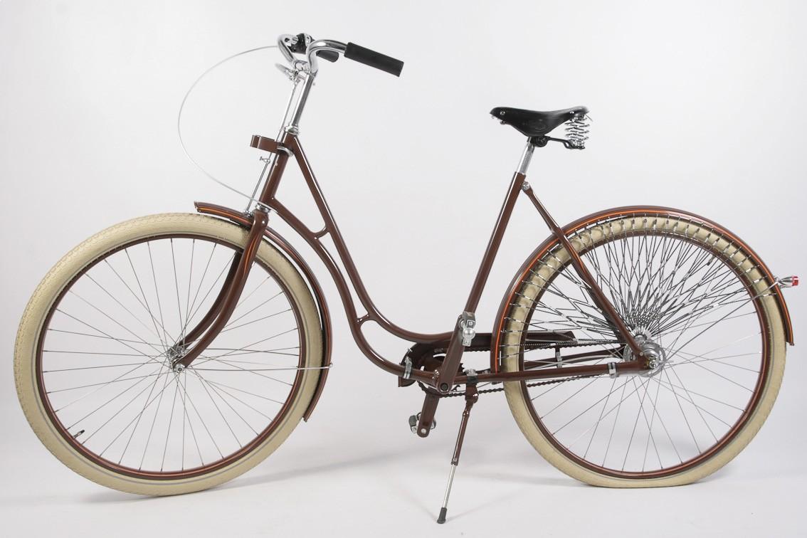 Dámsky retro bicykel LADY brown – prestavba na planétovú prevodovku