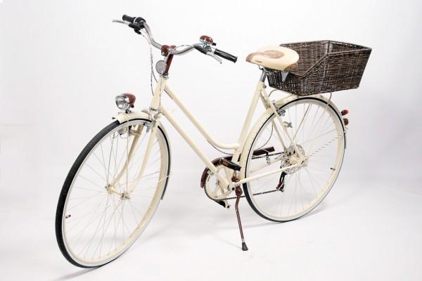 Dámsky retro bicykel TOSCANA cream – nízkorozpočtová prestavba